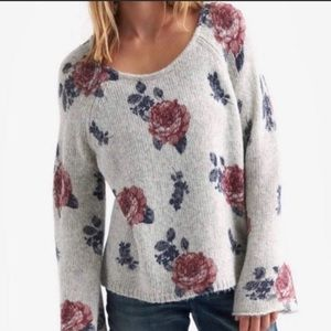 Lucky Brand 🍀 Floral Pullover Sweater (S)